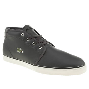 mens lacoste dark grey ampthill mts trainers