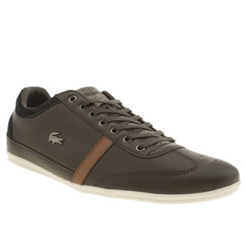 Mens Lacoste Dark Brown Misano 32 Trainers
