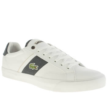 Lacoste White & Navy Fairlead Trainers