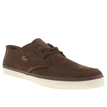 Mens Lacoste Dark Brown Sevrin 6 Trainers