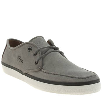 Mens Lacoste Light Grey Sevrin 5 Trainers