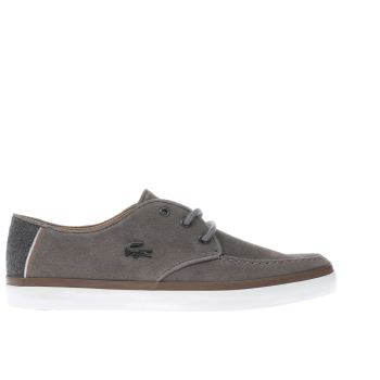 Mens Lacoste Grey Sevrin 2 Lcr Trainers