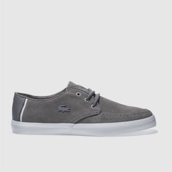 Lacoste Dark Grey Servin Trainers