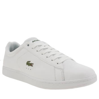 Lacoste White Carnaby Evo Trainers