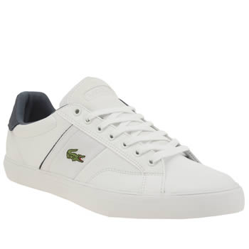 Lacoste White & Navy Fairlead 316 Mens Trainers