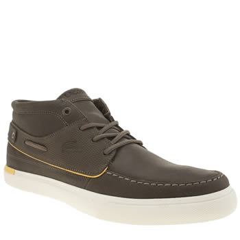 Lacoste Brown Meyssac Deck Trainers
