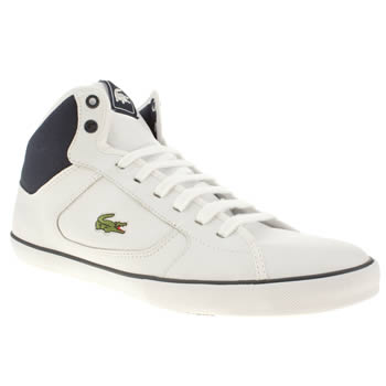 mens lacoste white & navy camous tt trainers