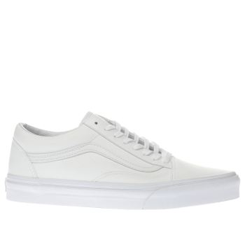 Vans White Old Skool Mens Trainers