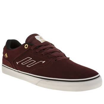 Mens Emerica Burgundy Reynolds Low Vulc Trainers