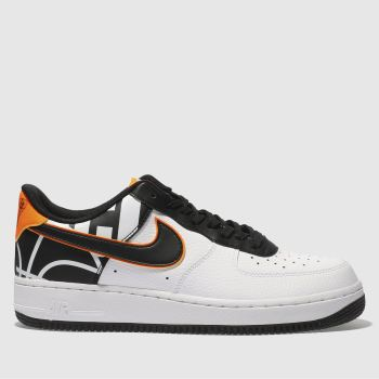 Mens Nike White & Black Air Force 1 Trainers