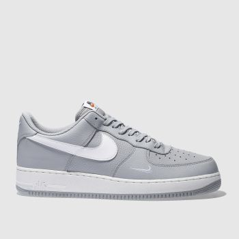 Nike Grey Air Force 1 Mens Trainers
