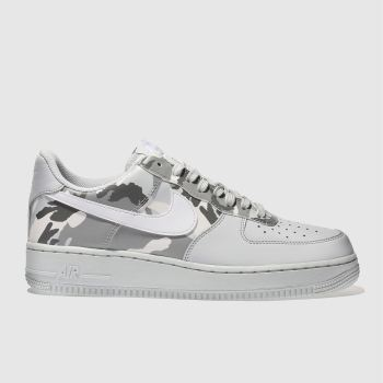 Nike Grey Air Force 1 07 Mens Trainers