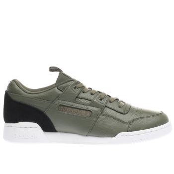 Reebok Khaki Workout Plus It Mens Trainers