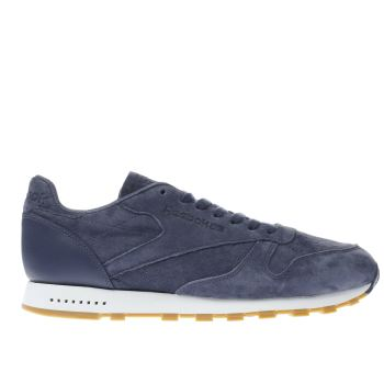 Reebok Navy Classic Leather Mens Trainers