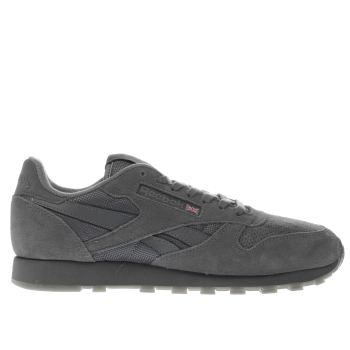 Reebok Grey Classic Leather Mens Trainers