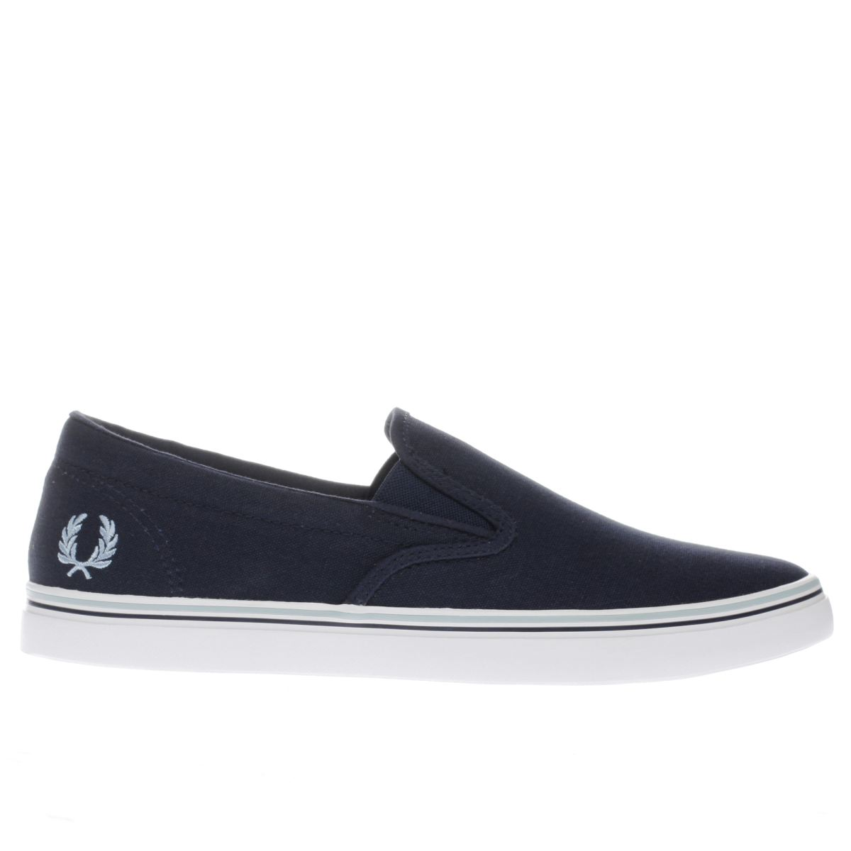 fred perry navy underspin slip on trainers