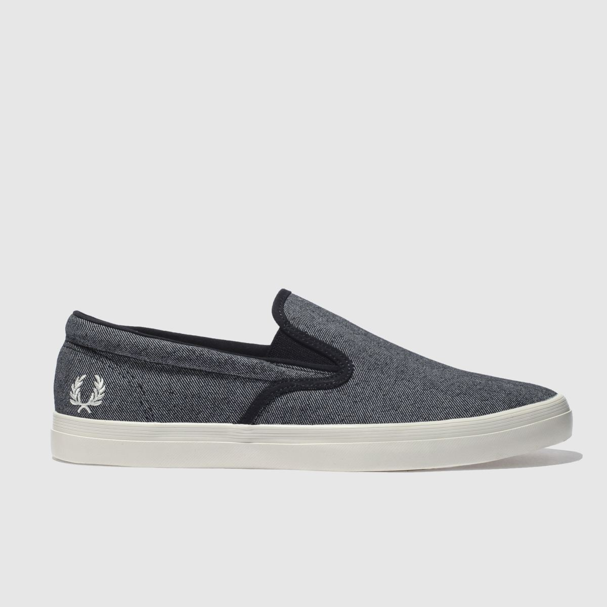 Fred Perry Navy & White Underspin Slip On Trainers