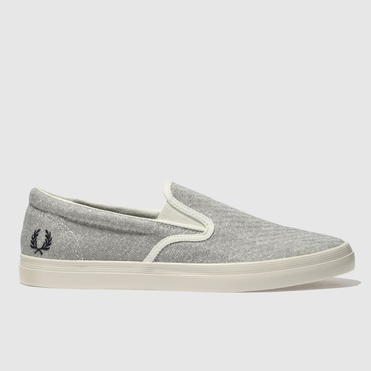 Fred Perry Fred Perry Light Grey Underspin Slip On Trainers