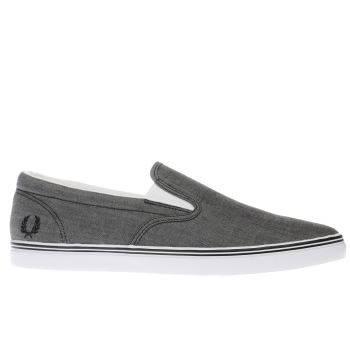 Fred Perry Black Underspin Slip On Mens Trainers