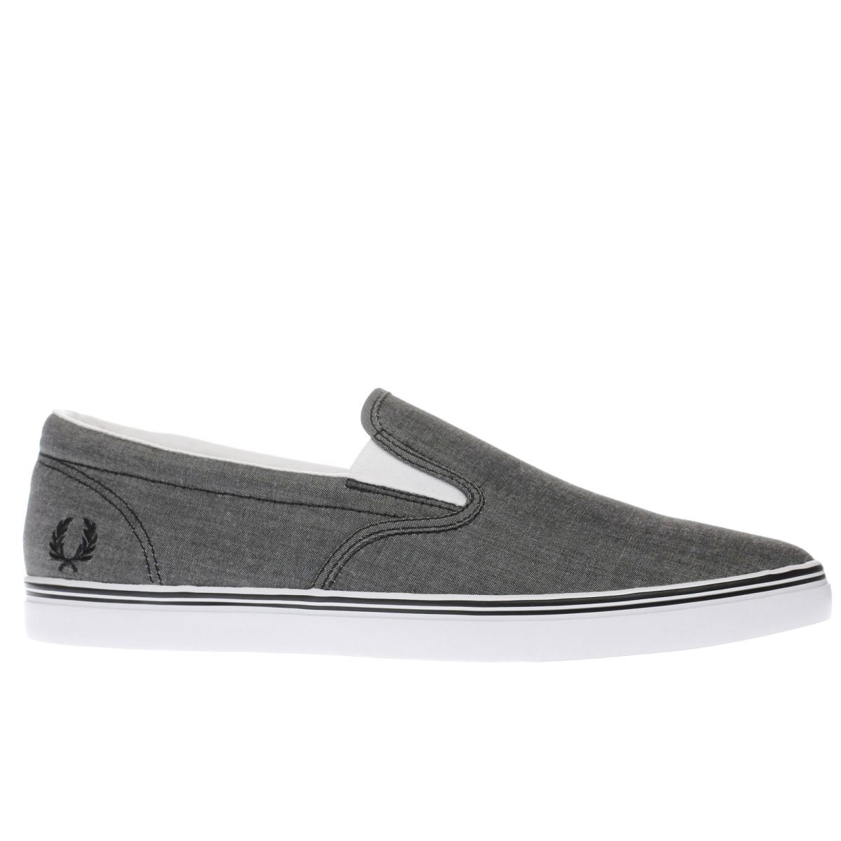 fred perry black underspin slip on trainers