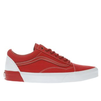 Vans Red Old Sckool Dx Blocked Trainers