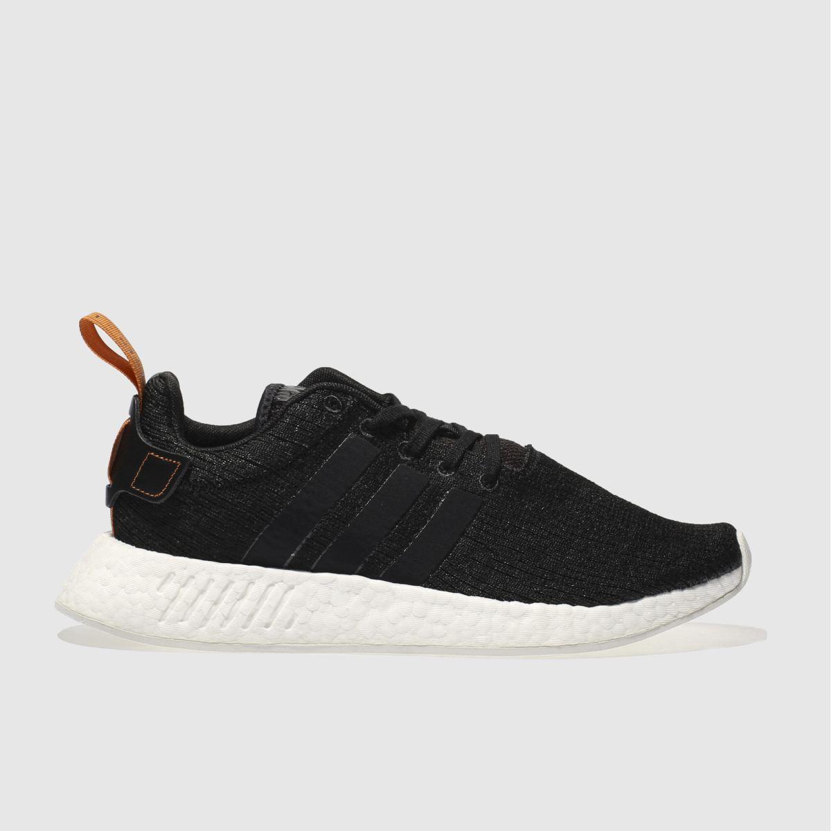 adidas black & white nmd_r2 trainers