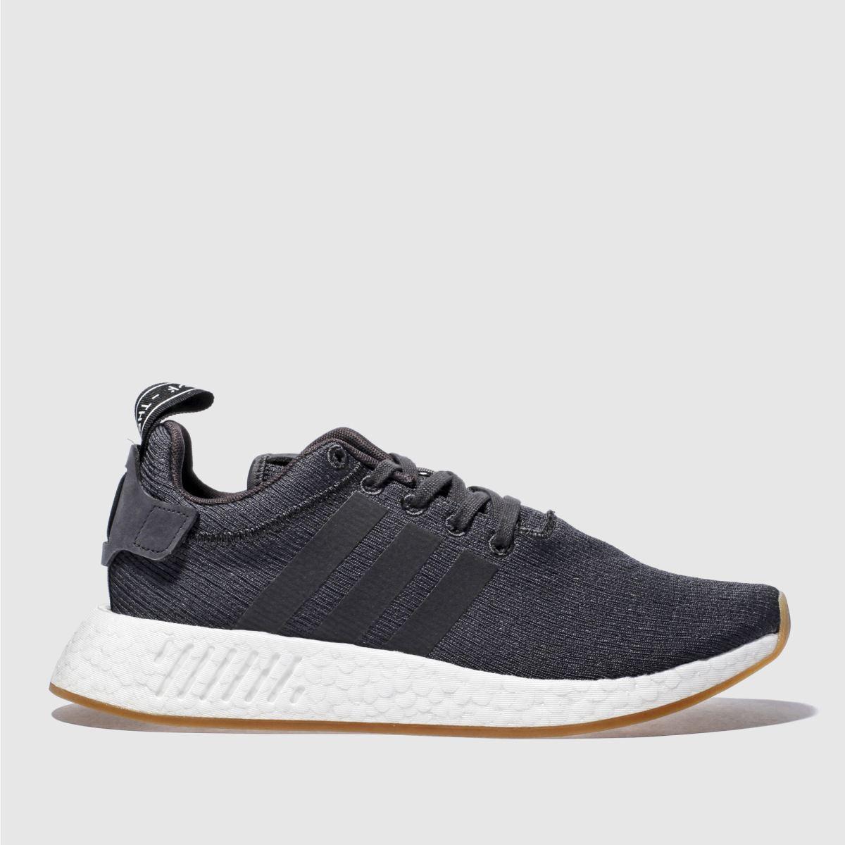 adidas dark grey nmd_r2 trainers