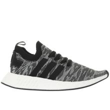 Adidas Grey & Black Nmd_r2 Primeknit Mens Trainers