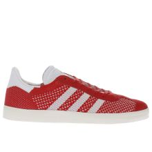 Adidas Red Gazelle Primeknit Mens Trainers