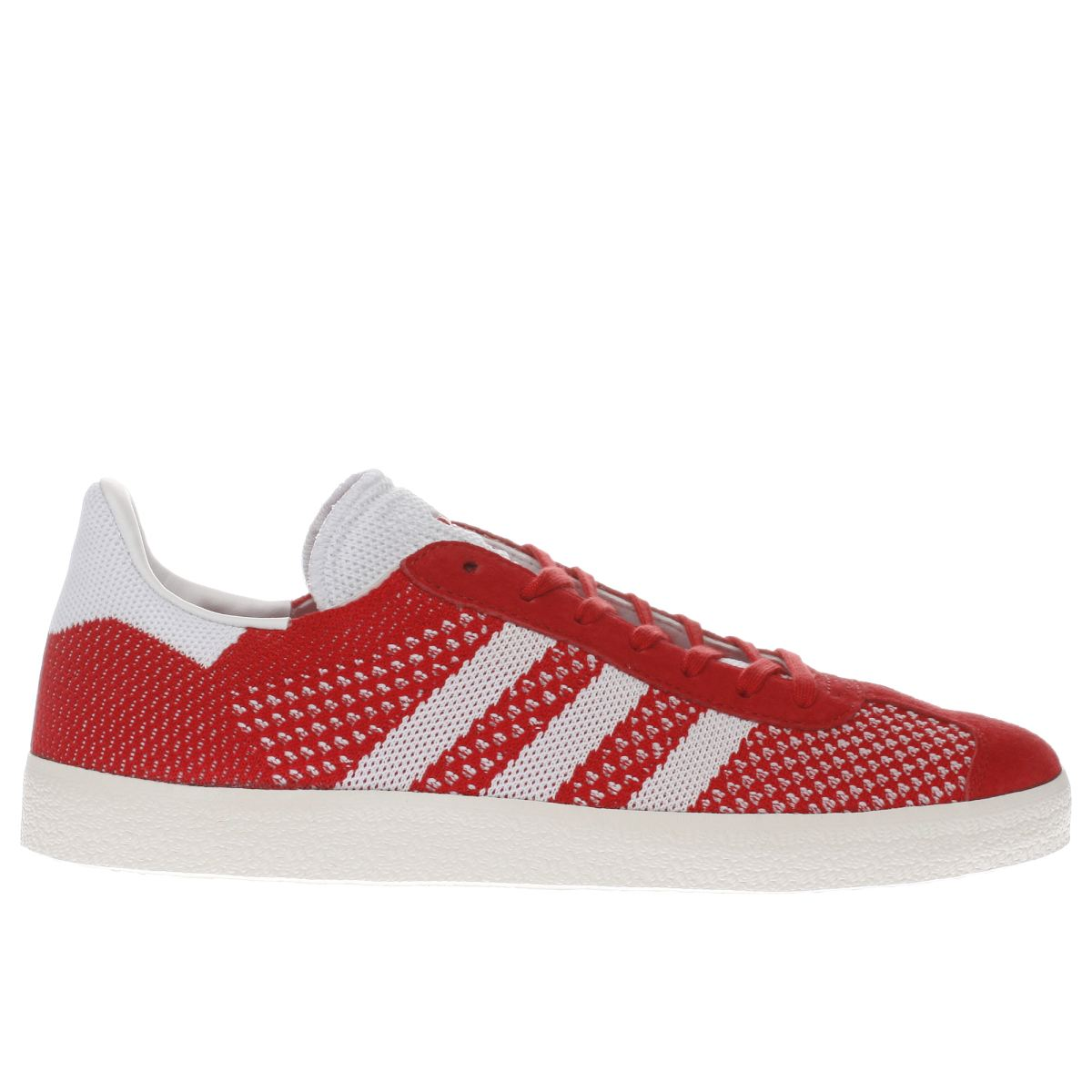 adidas red gazelle primeknit trainers