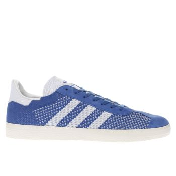 Adidas Blue Gazelle Primeknit Mens Trainers