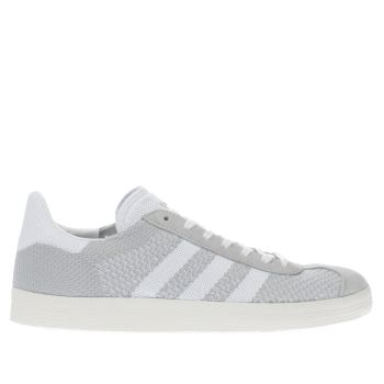Adidas Light Grey Gazelle Primeknit Trainers