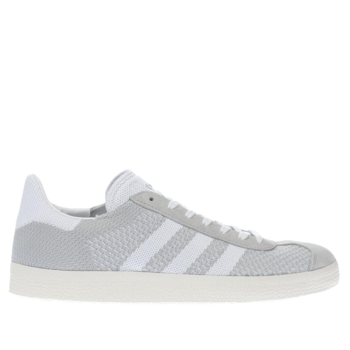adidas light grey gazelle primeknit trainers