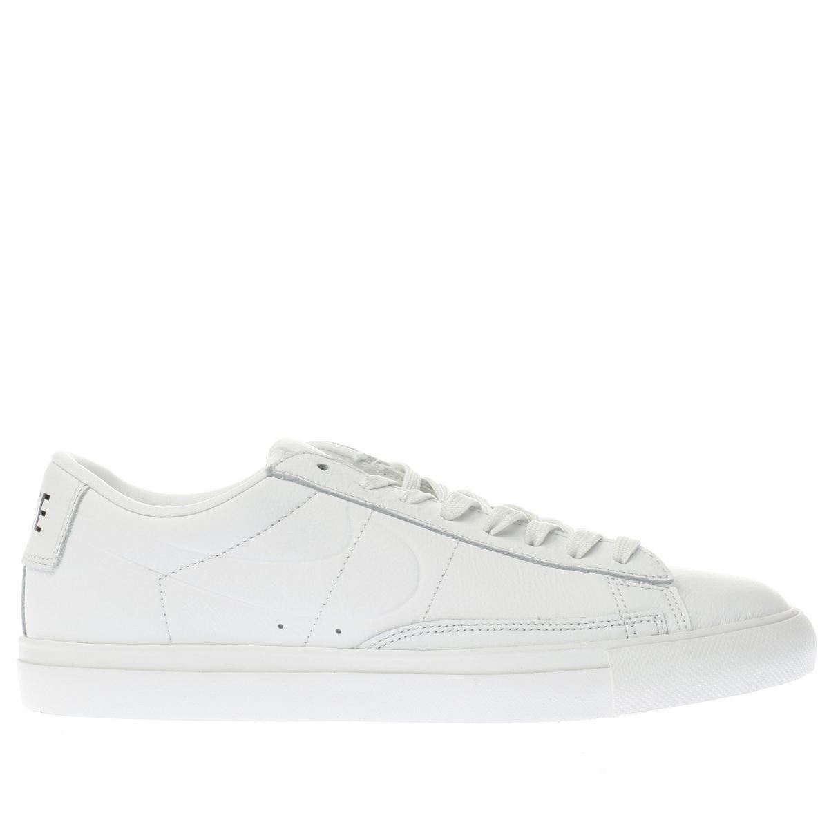 nike white blazer low trainers