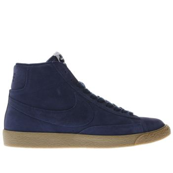 Nike Navy Blazer Mid Top Mens Trainers
