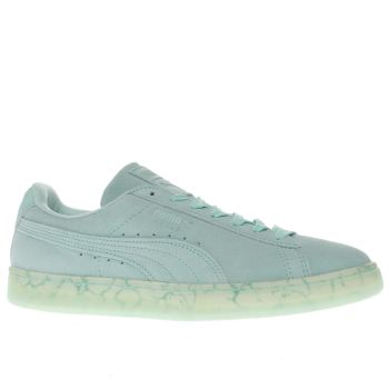 Puma Light Green Suede Classic Easter Trainers