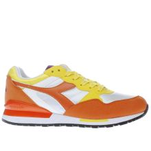 Diadora Orange Intrepid Mens Trainers