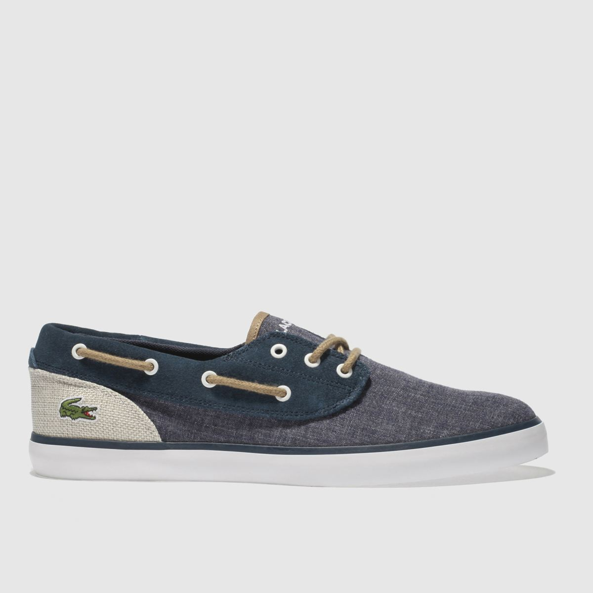 Lacoste Navy & Stone Jouer Deck Trainers