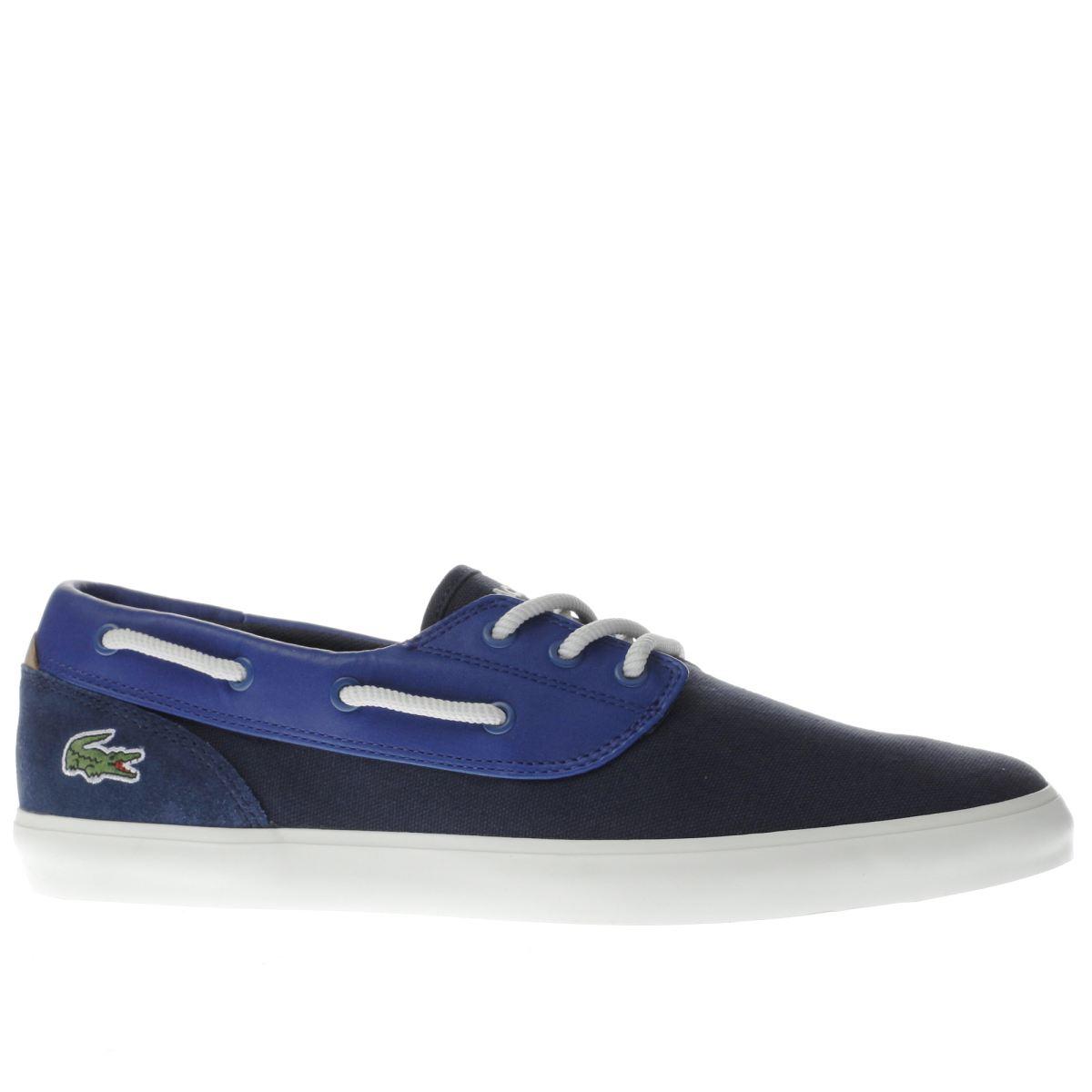 lacoste navy jouer deck shoes
