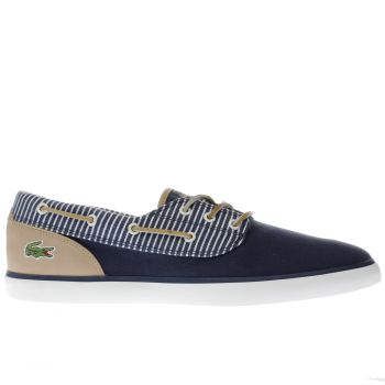Lacoste Navy & White Jouer Deck Shoes