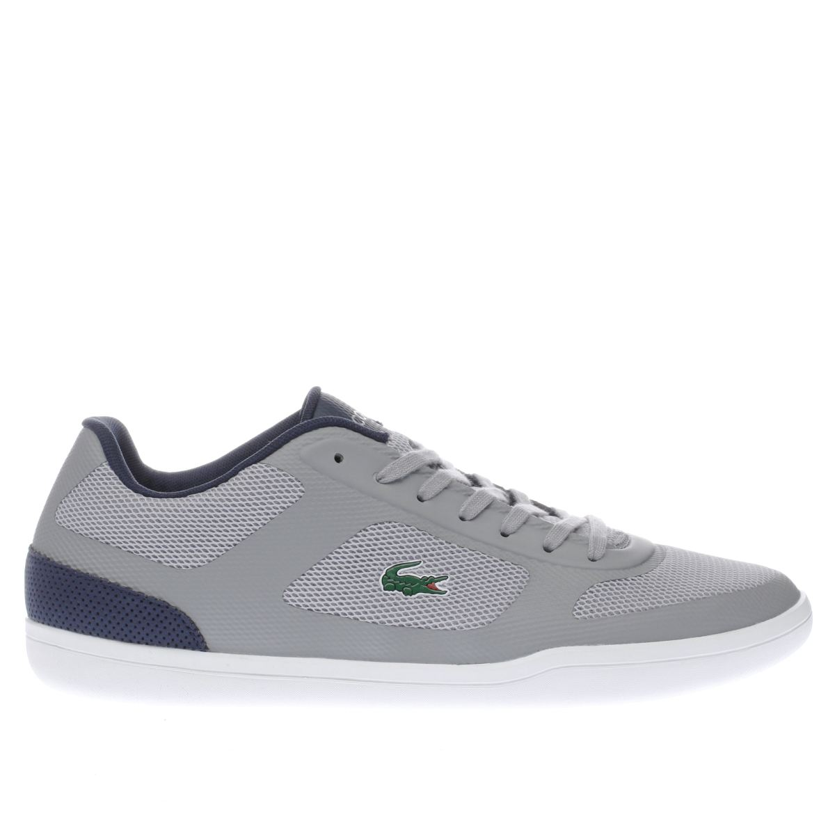 lacoste grey court minimal trainers