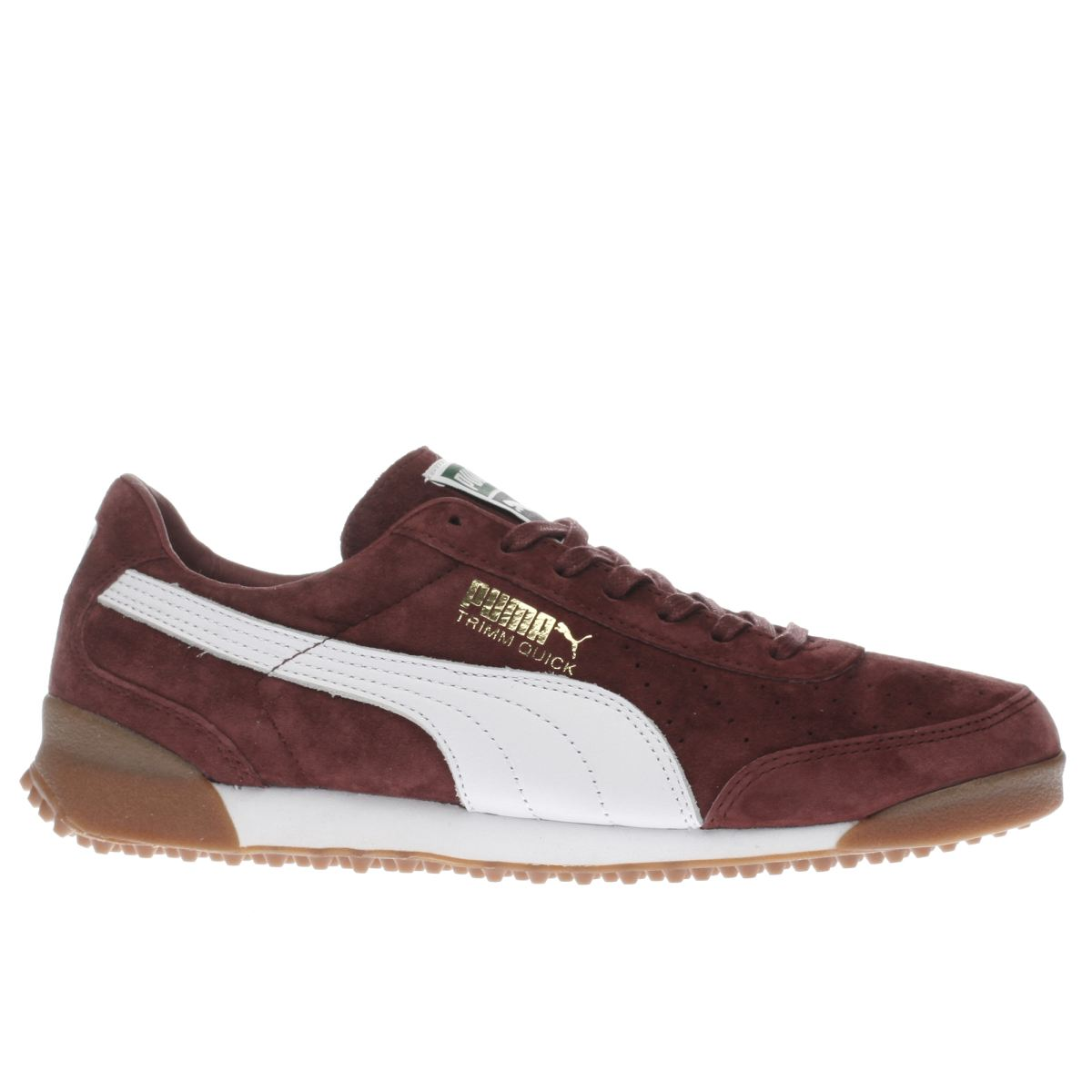 puma burgundy trimm quick trainers