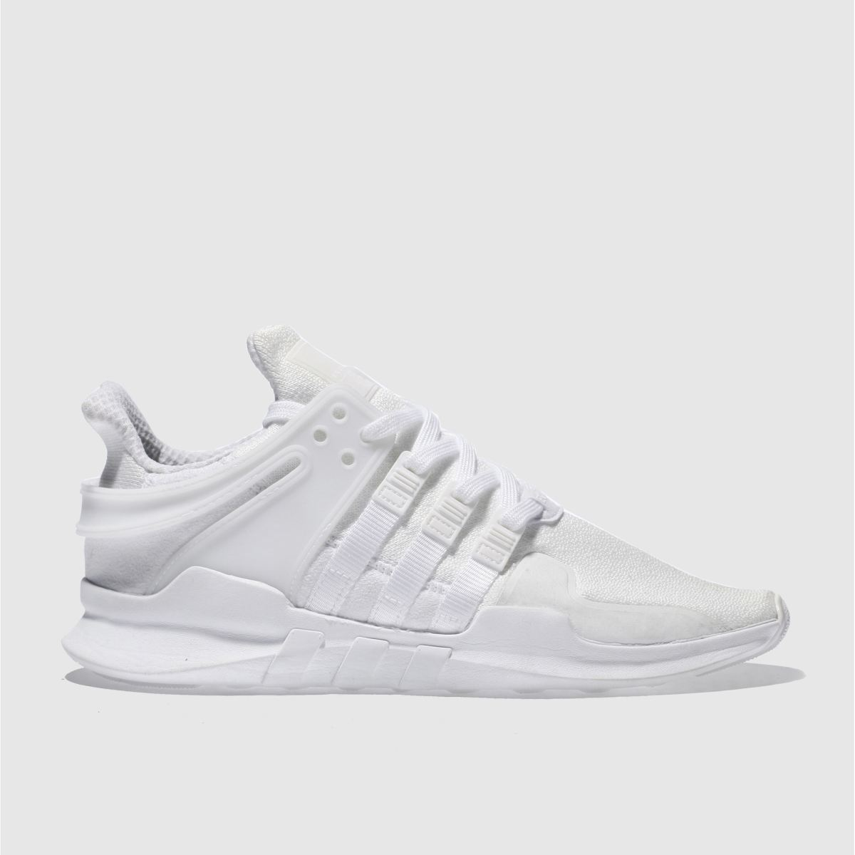 adidas white eqt support adv trainers