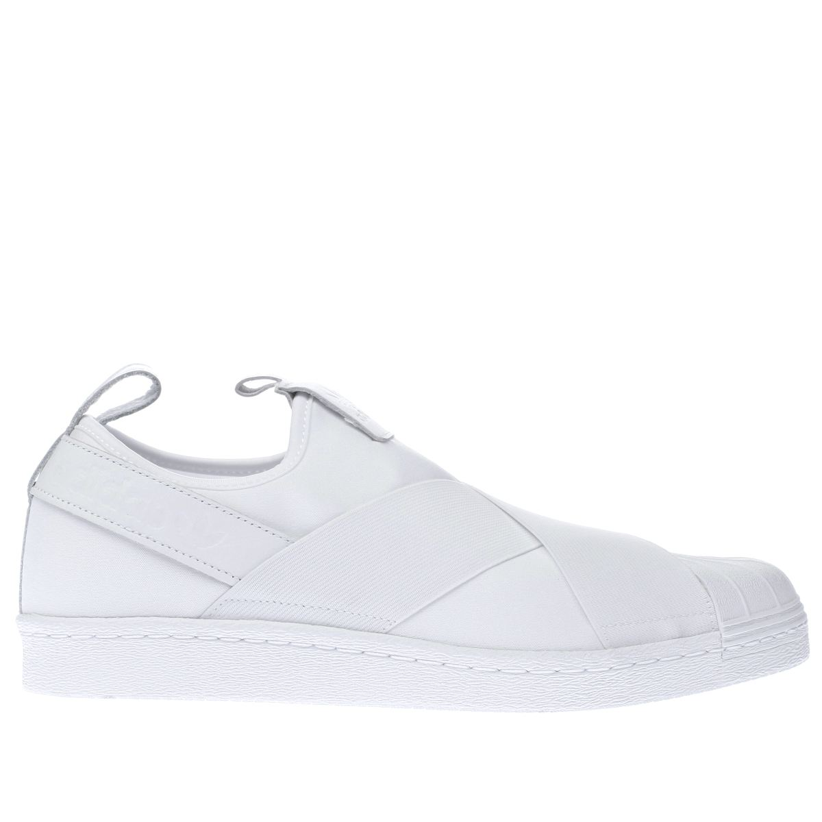 adidas white superstar slip-on trainers