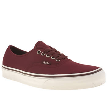 mens vans burgundy authentic trainers
