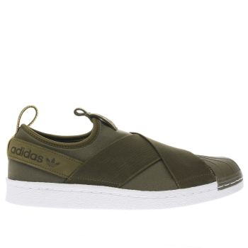 Adidas Khaki Superstar Slip-On Mens Trainers
