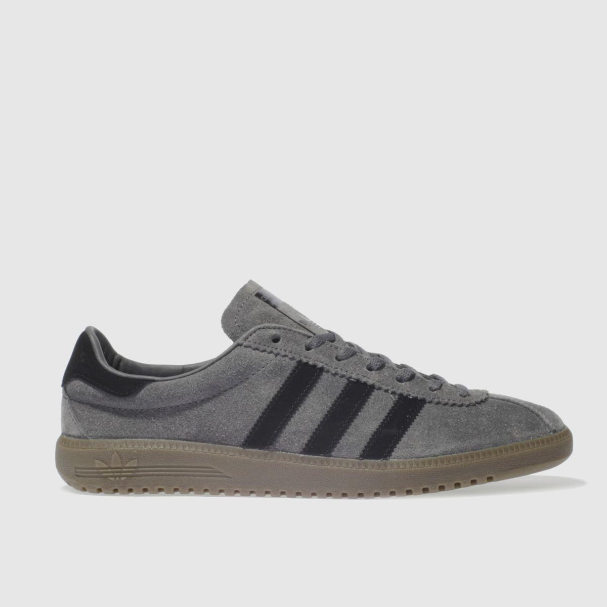 adidas grey & black bermuda trainers