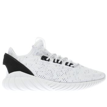 Adidas White Tubular Doom Primeknit Mens Trainers