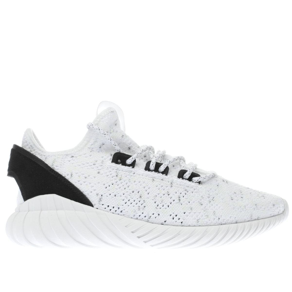 adidas white tubular doom primeknit trainers