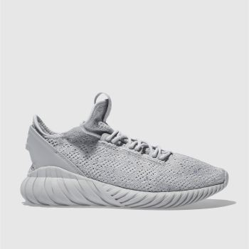 Adidas Grey Tubular Doom Primeknit Mens Trainers